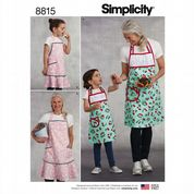 8815 Simplicity Pattern: Child's and Misses' Aprons